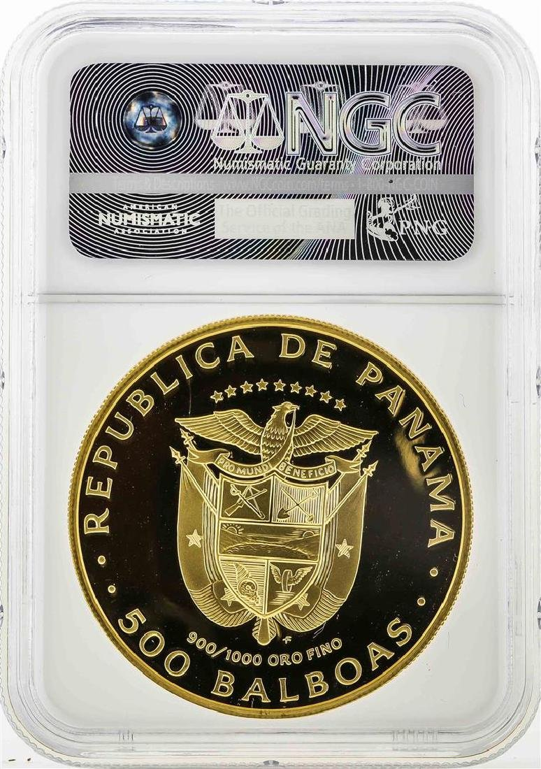 1979FM Panama 500 Balboas Golden Jaguar Coin NGC PF70 - 2