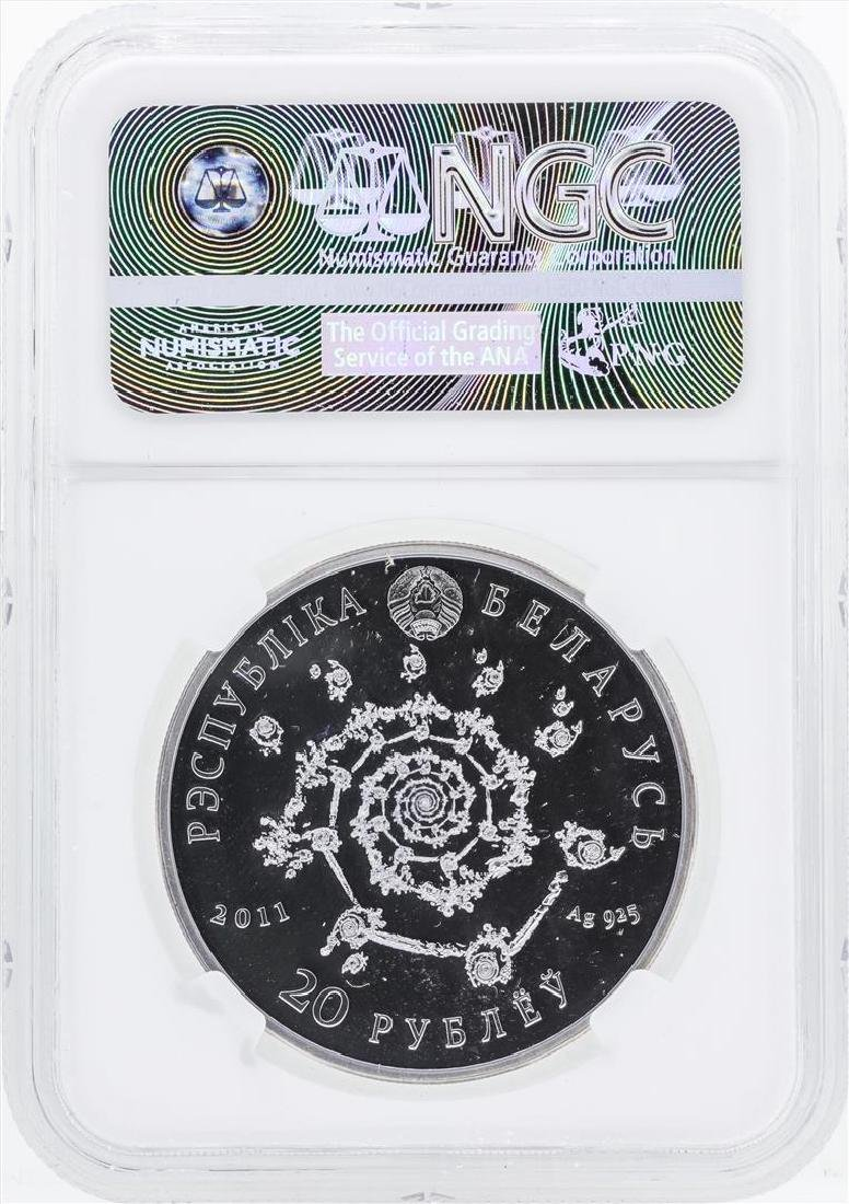 2011 Belarus 20 Roubles Arabic Dance Colorized Silver - 2
