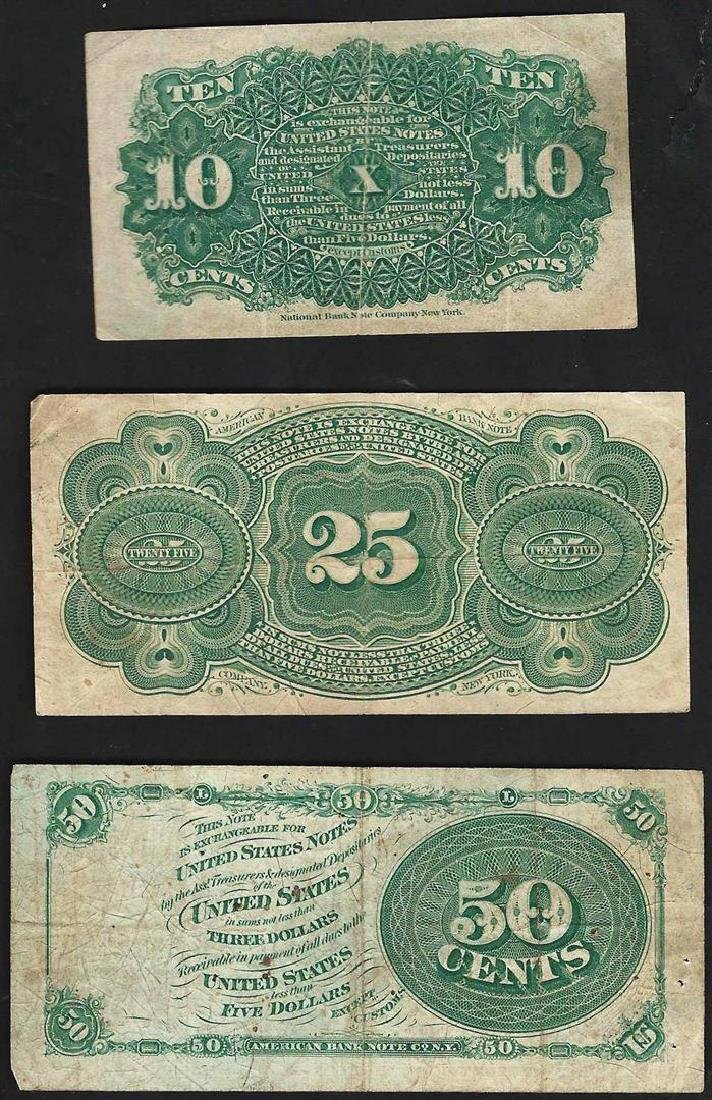 Set of March 3, 1863 10/25/50 Cent 4th Issue Fractional - 2