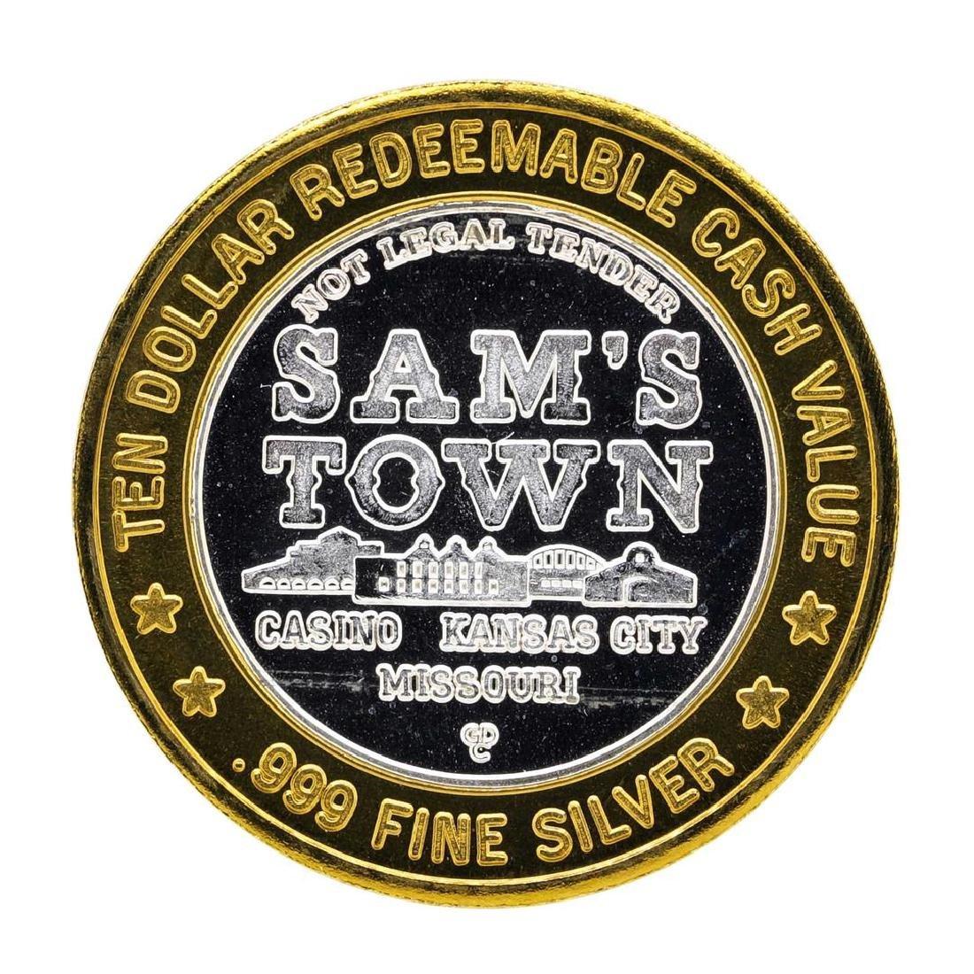 .999 Silver Sam's Town Kansas City, MO $10 Casino - 2