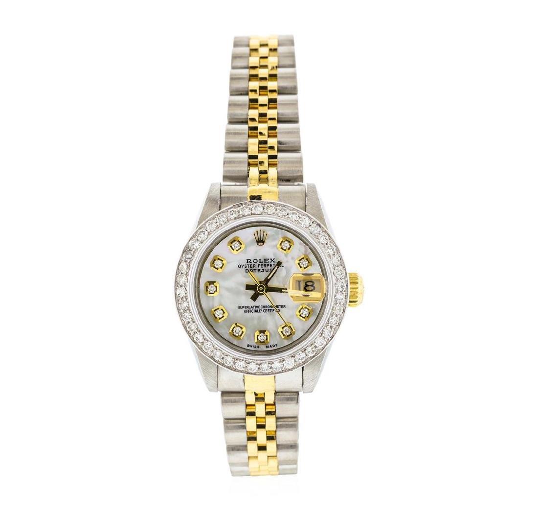 Rolex Ladies Two Tone Diamond Datejust Wristwatch