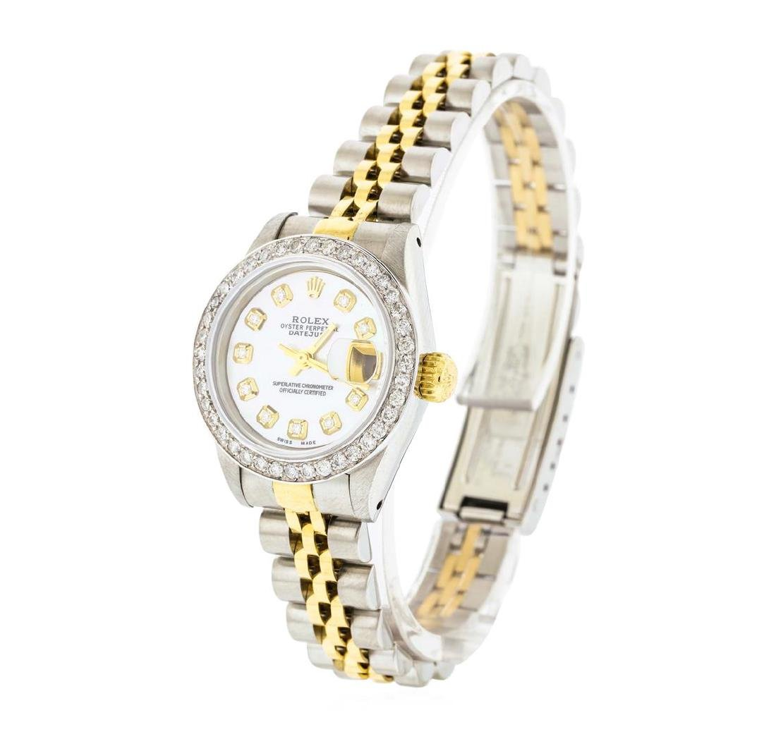 Rolex Ladies Two Tone Diamond Datejust Wristwatch - 2