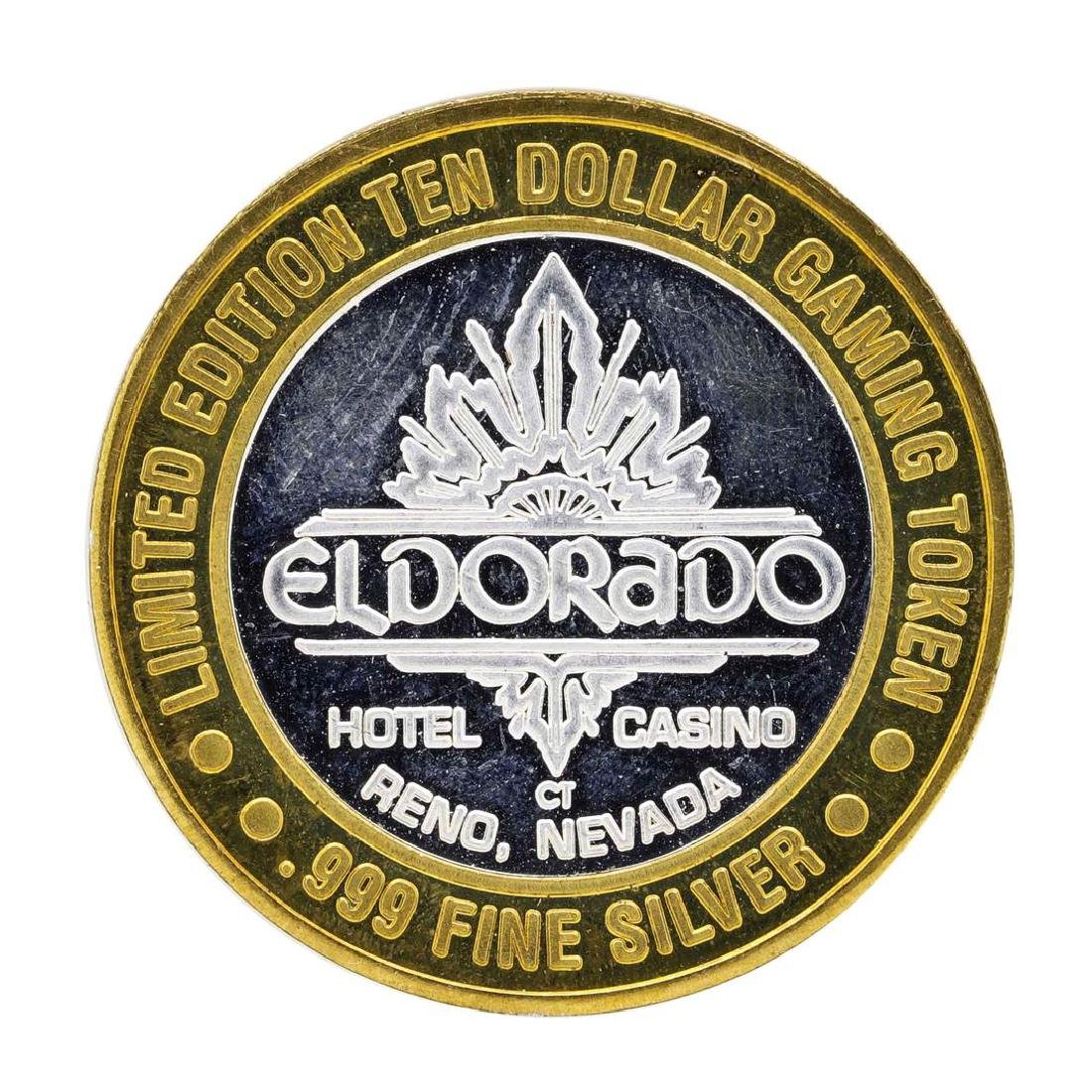 .999 Silver Eldorado Hotel & Casino $10 Casino Limited - 2
