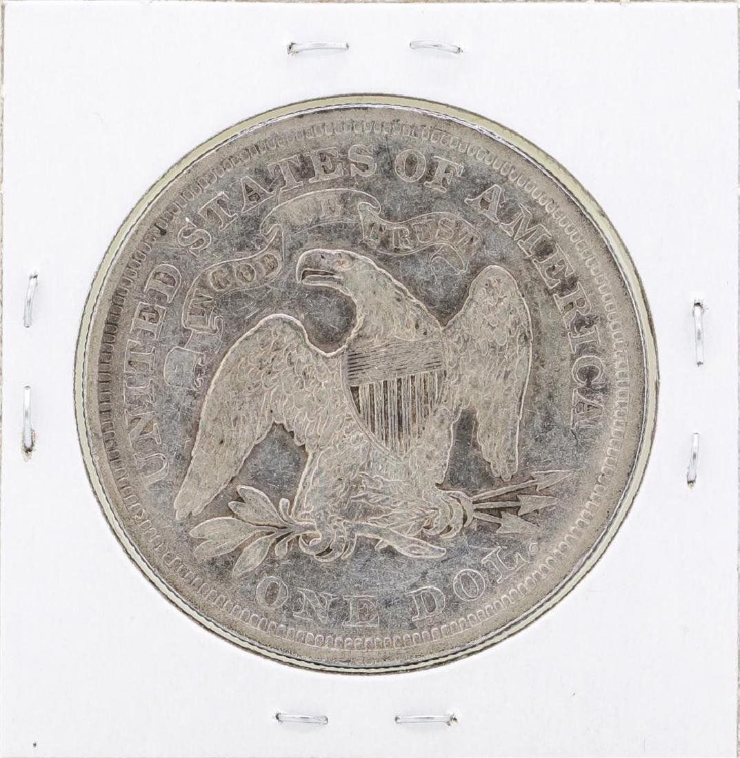 1872 $1 Seated Silver Dollar Coin - 2