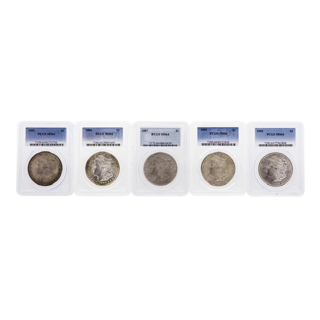 Lot of (5) Assorted Philadelphia Mint $1 Morgan Silver