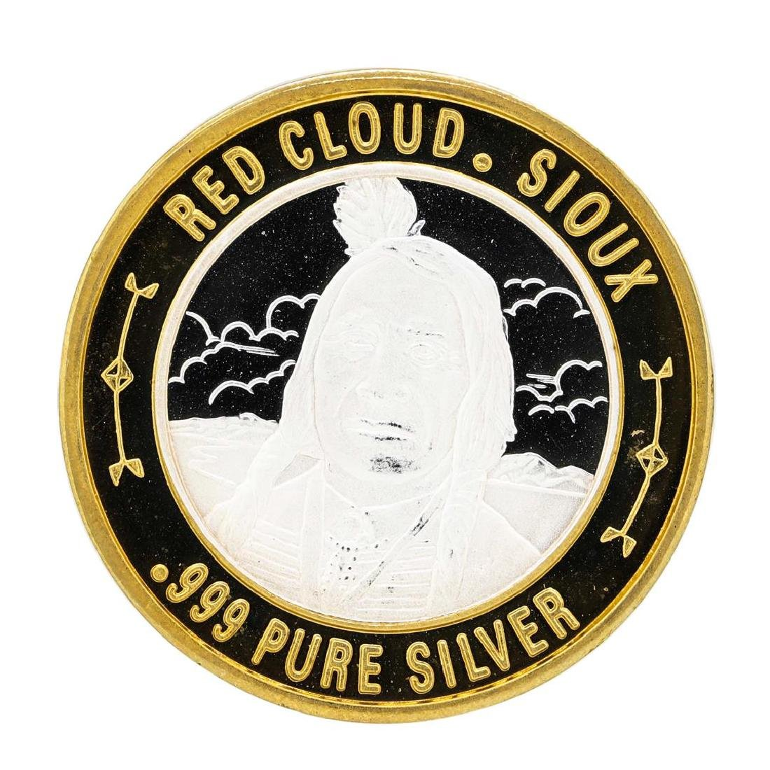 .999 Silver Red Cloud Sioux $10 Casino Limited Native