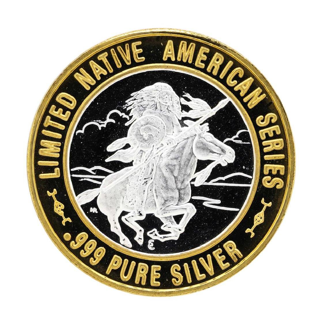 .999 Silver Red Cloud Sioux $10 Casino Limited Native - 2