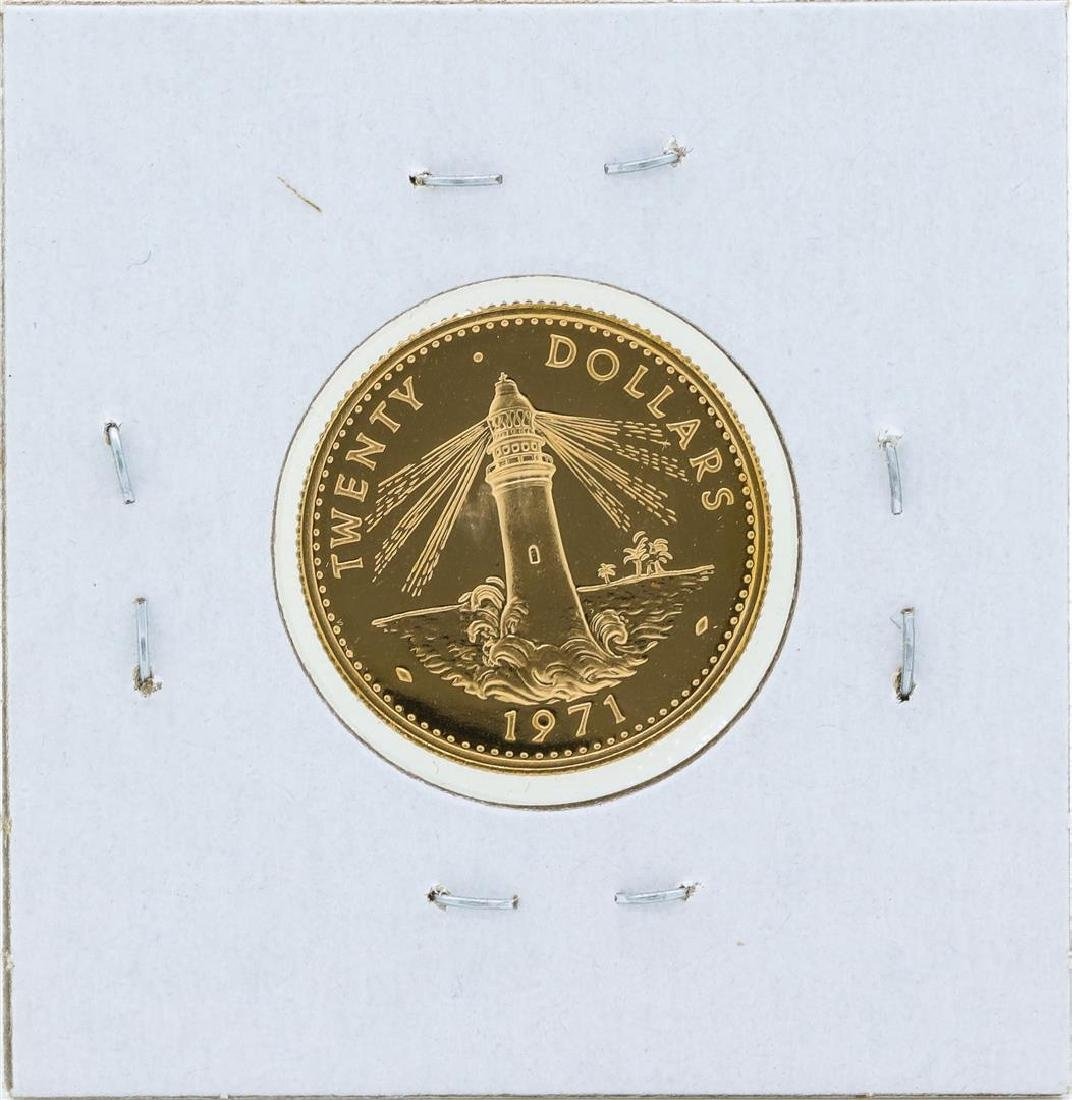 1971 $20 Commonwealth of the Bahamas Gold Proof Coin - 2