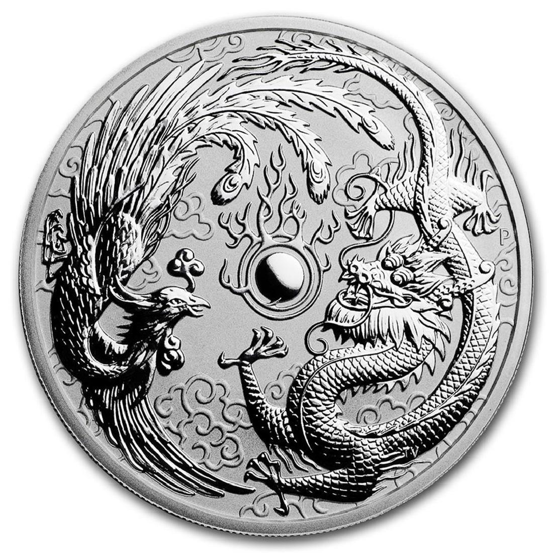 2017-P Australia $1 Dragon & Phoenix Silver Coin