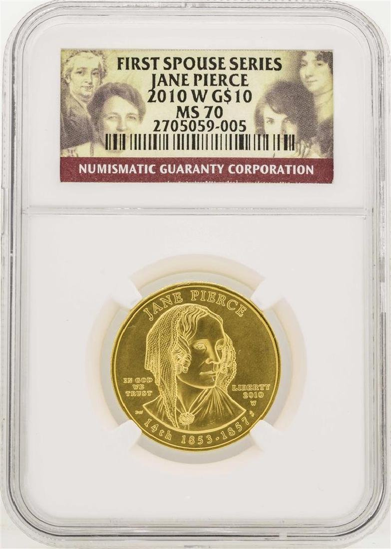 2010-W $10 First Spouse Series Jane Pierce Gold Coin
