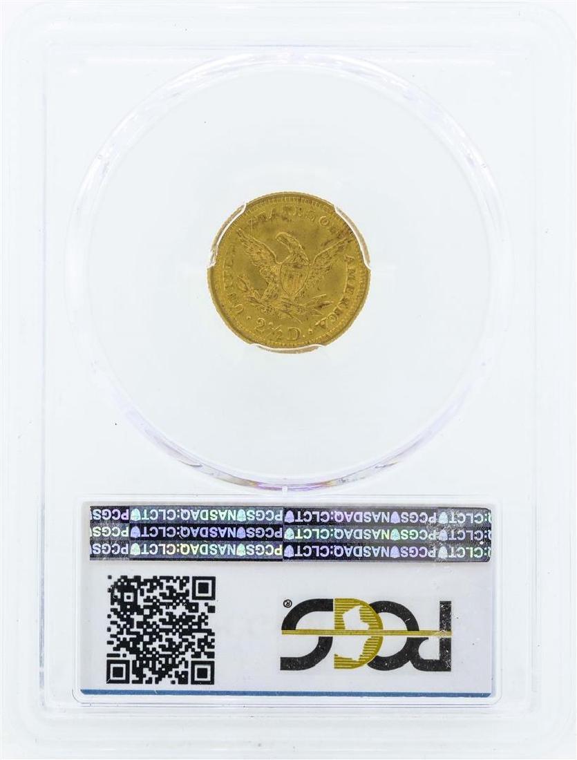 1903 $2 1/2 Liberty Head Quarter Eagle Gold Coin PCGS - 2