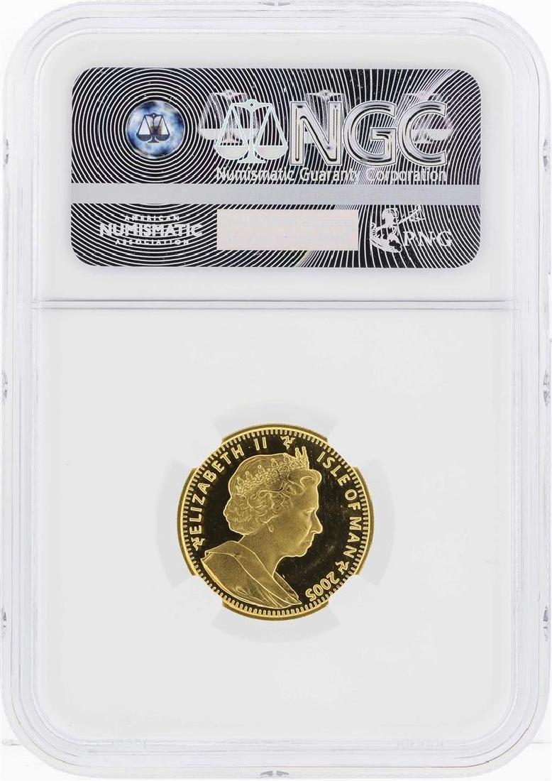 2005 Isle of Man 1/5 Crown Himalayan Gold Coin NGC MS65 - 2