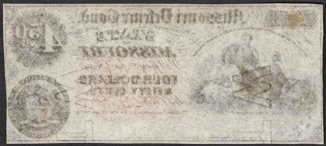 1860's $4 The State of Missouri Defence Bond Obsolete - 2