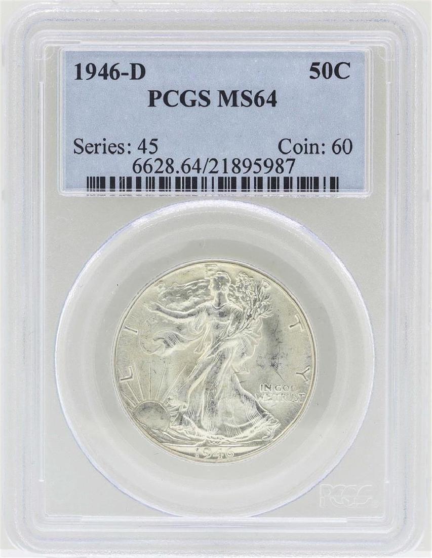 1946-D Walking Liberty Half Dollar Coin PCGS MS64