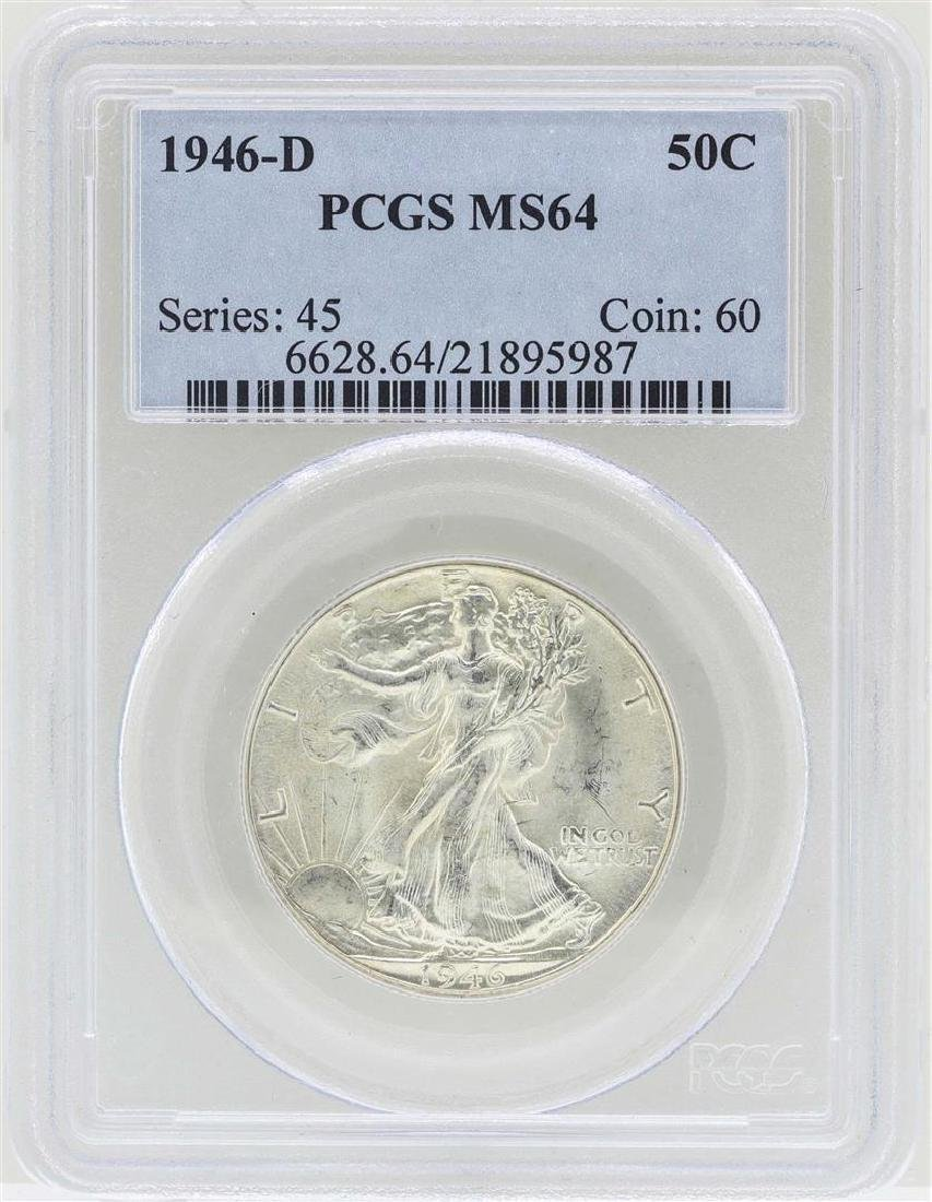 1946-D Walking Liberty Half Dollar Coin PCGS MS64