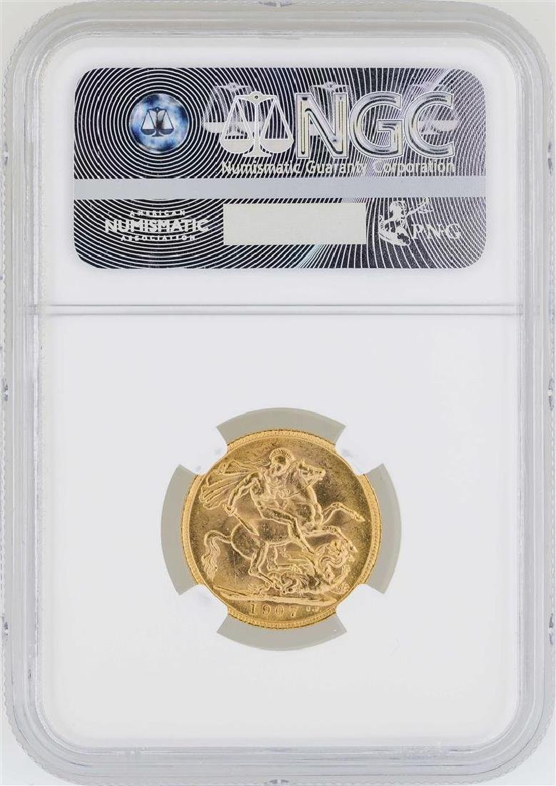 1907 Great Britain Sovereign Gold Coin NGC MS62 - 2