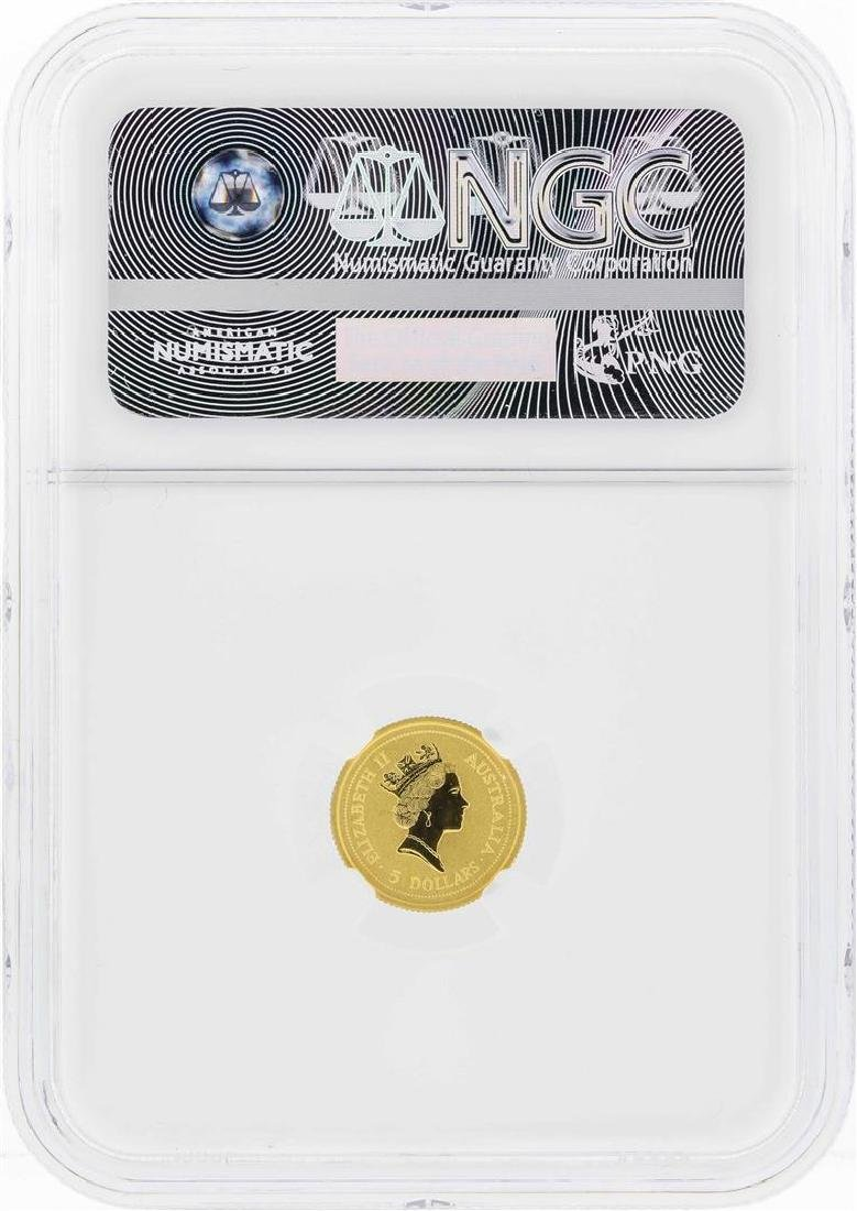 1997 $5 Australia Year of the Ox Gold Coin NGC MS70 - 2