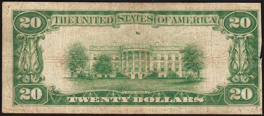 1929 $20 National City Bank of New York NY National - 2
