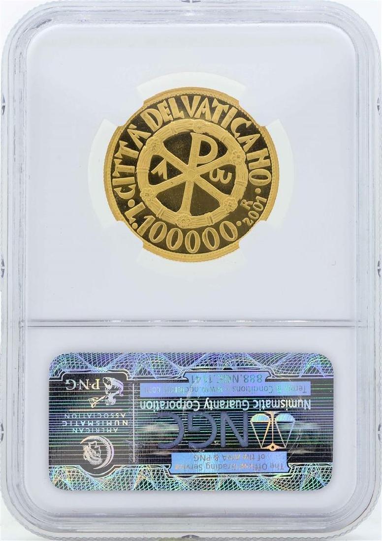 2001R XXIII Vatican 100 Lire Proof Gold Coin NGC PF65 - 2