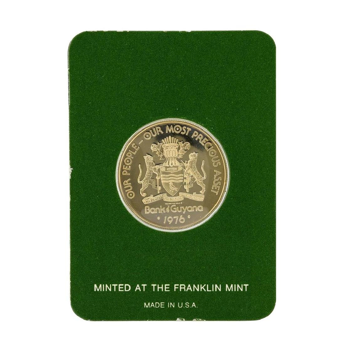 1976 Guyana $100 Gold Proof Coin - 2
