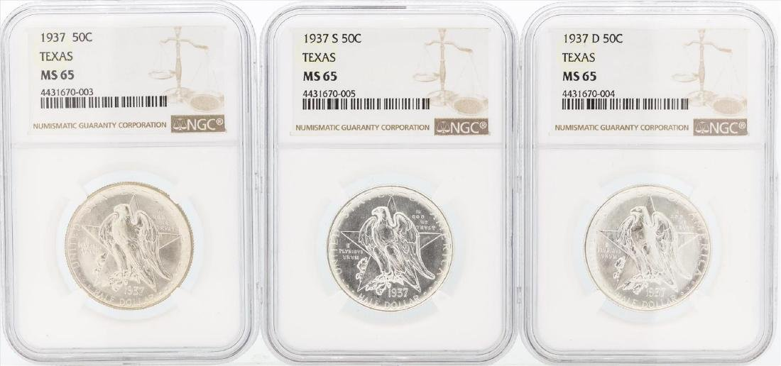 Set of (3) 1937/D/S Texas Commemorative Half Dollar