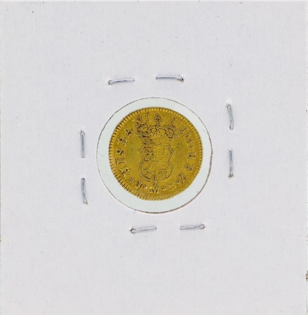 1755 Ferdinand VI Spanish 1/2 Escudos Gold Coin - 2