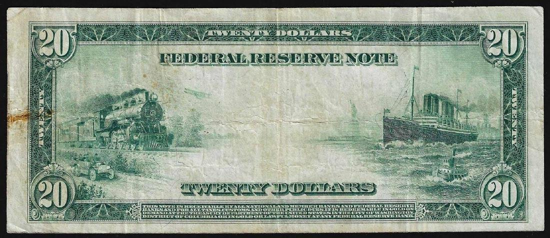1914 $20 Federal Reserve Note Richmond - 2