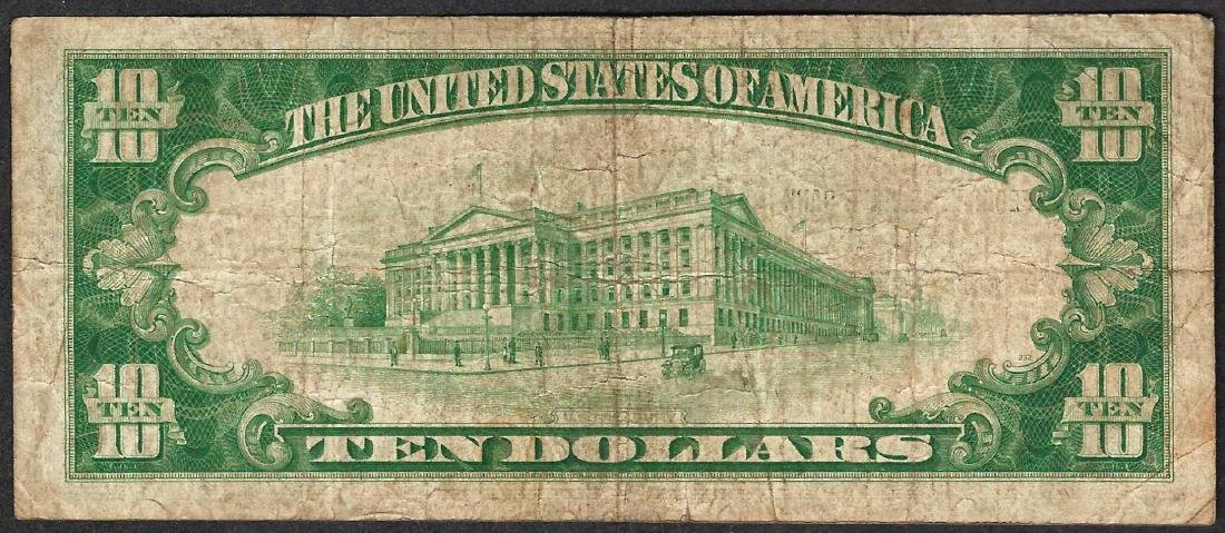 1929 $10 Federal Reserve Bank of Boston Note - 2
