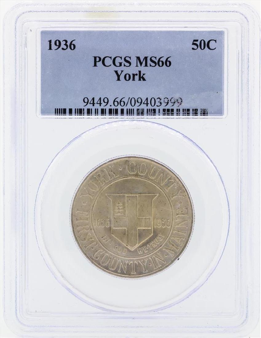 1936 York Commemorative Half Dollar Coin PCGS MS66