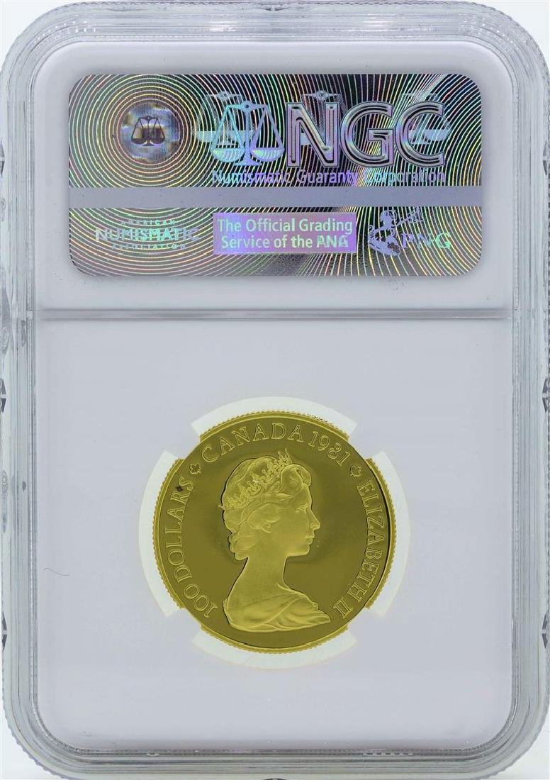 1981 Canada $100 National Anthem Gold Coin NGC PF66 - 2