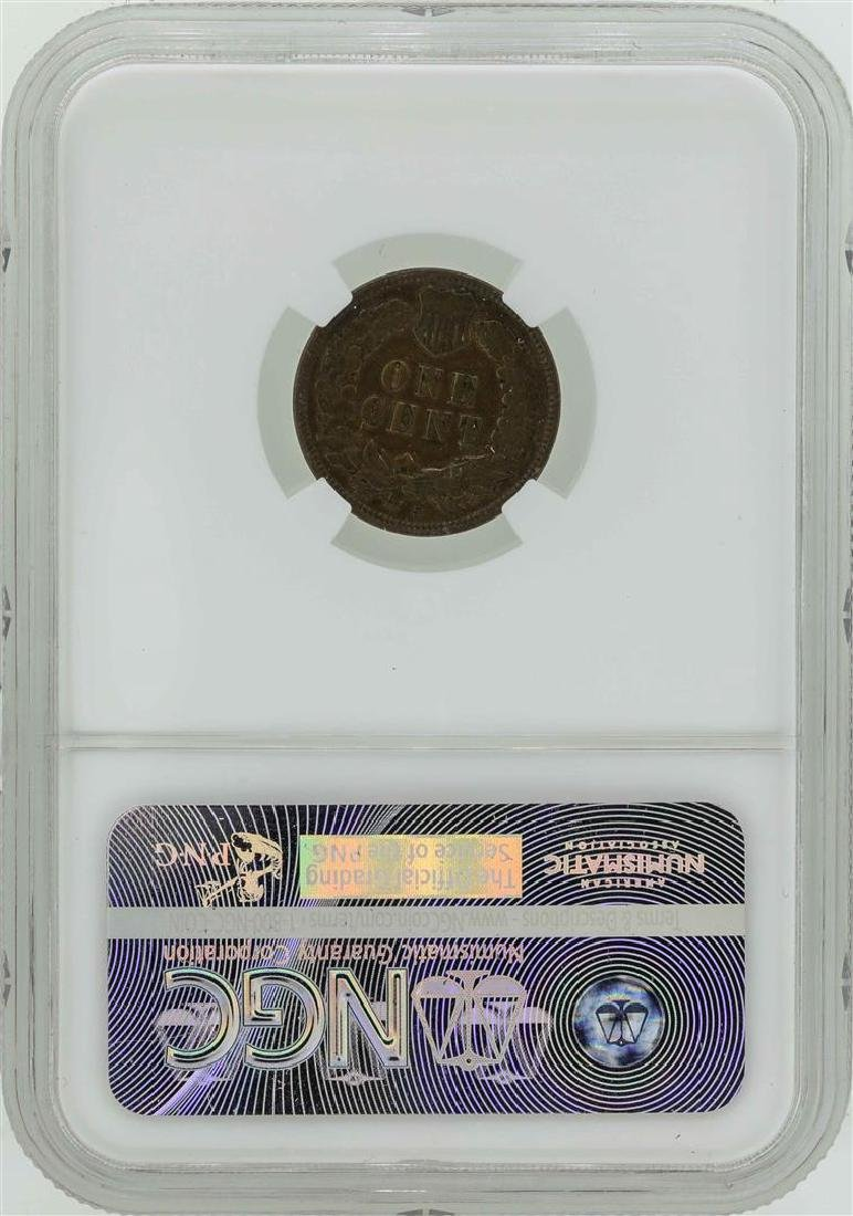1908-S Indian Head Penny Coin NGC XF40BN - 2