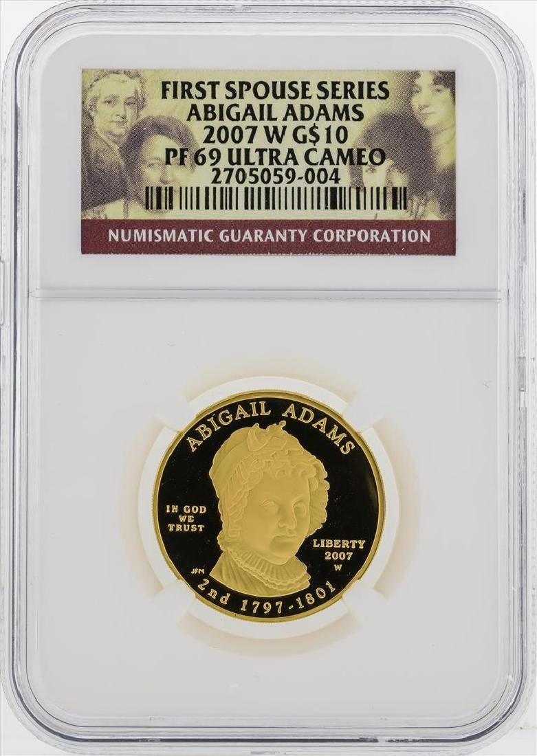 2007 W $10 First Spouse Series Abigail Adams Gold Coin