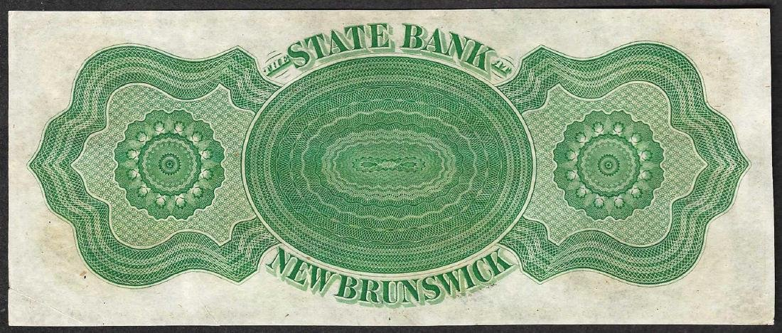 1800's $3 State Bank at New Brunswick Obsolete Note - 2