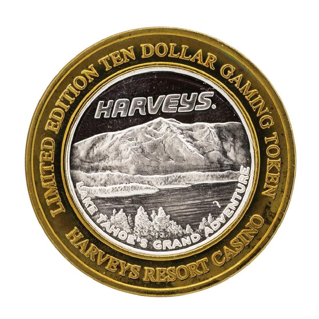 .999 Silver Harveys Lake Tahoe, Nevada $10 Casino