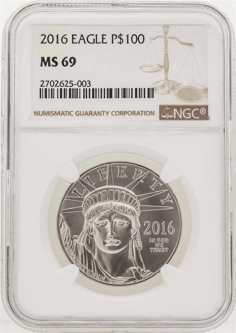 2016 $100 Platinum American Eagle Coin NGC MS69