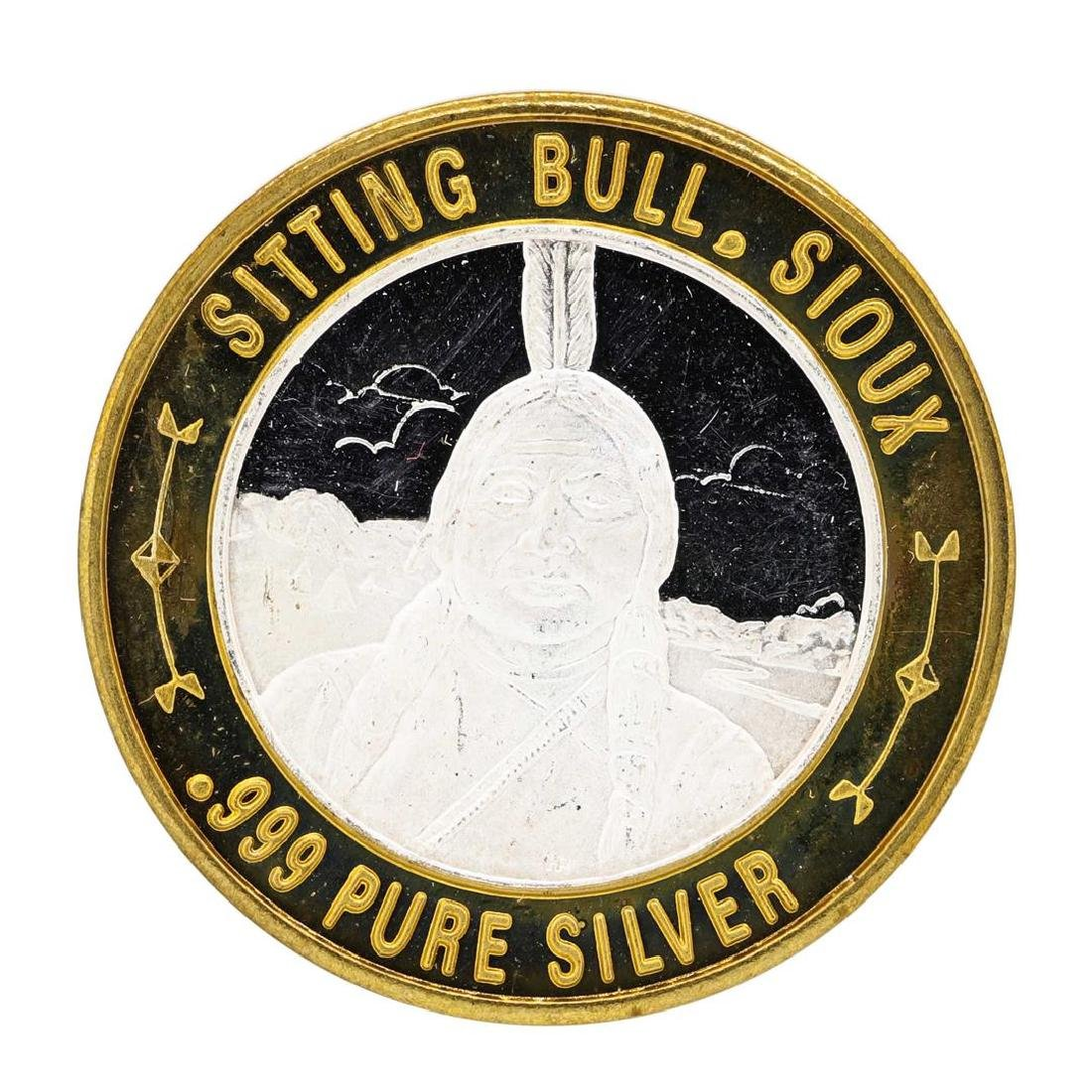 .999 Silver Sitting Bull Sioux $10 Casino Limited