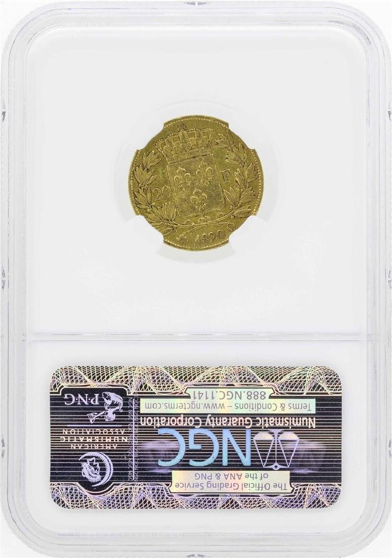 1820Q France 20 Francs Gold Coin NGC VF35 - 2