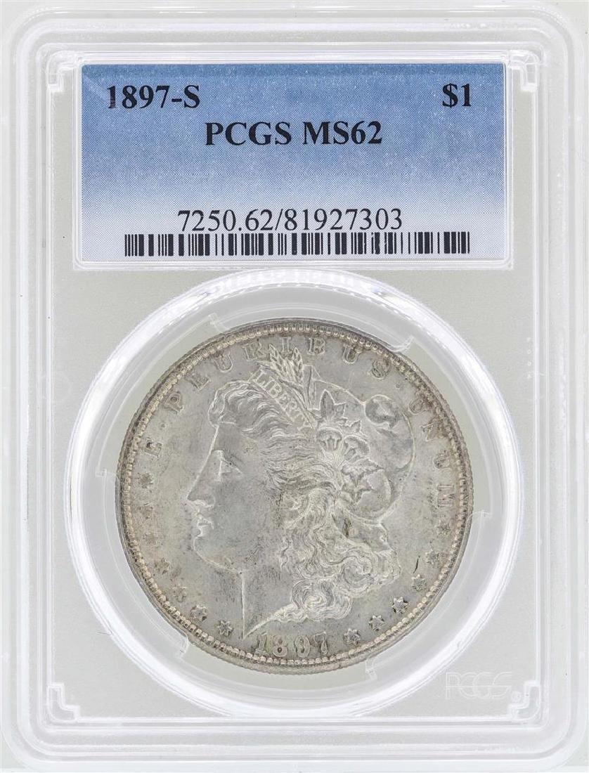 1897-S $1 Morgan Silver Dollar Coin PCGS MS62