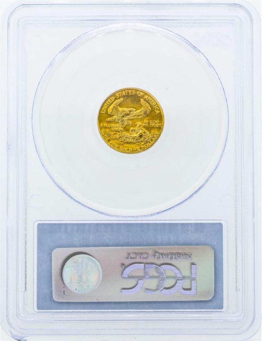 1991 $5 American Gold Eagle Coin PCGS MS69 - 2
