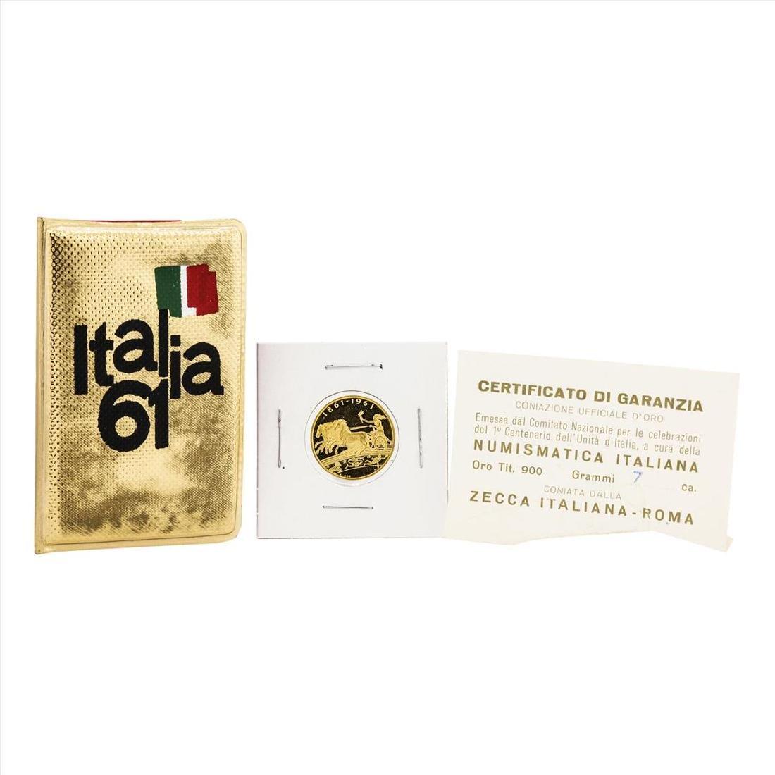 1961 Italy Kingdom Centennial 22k Gold Medal