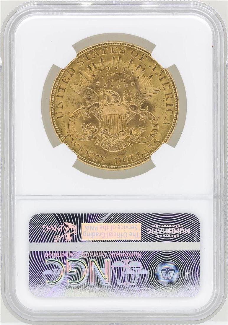 1907 $20 Liberty Head Double Eagle Gold Coin NGC MS61 - 2