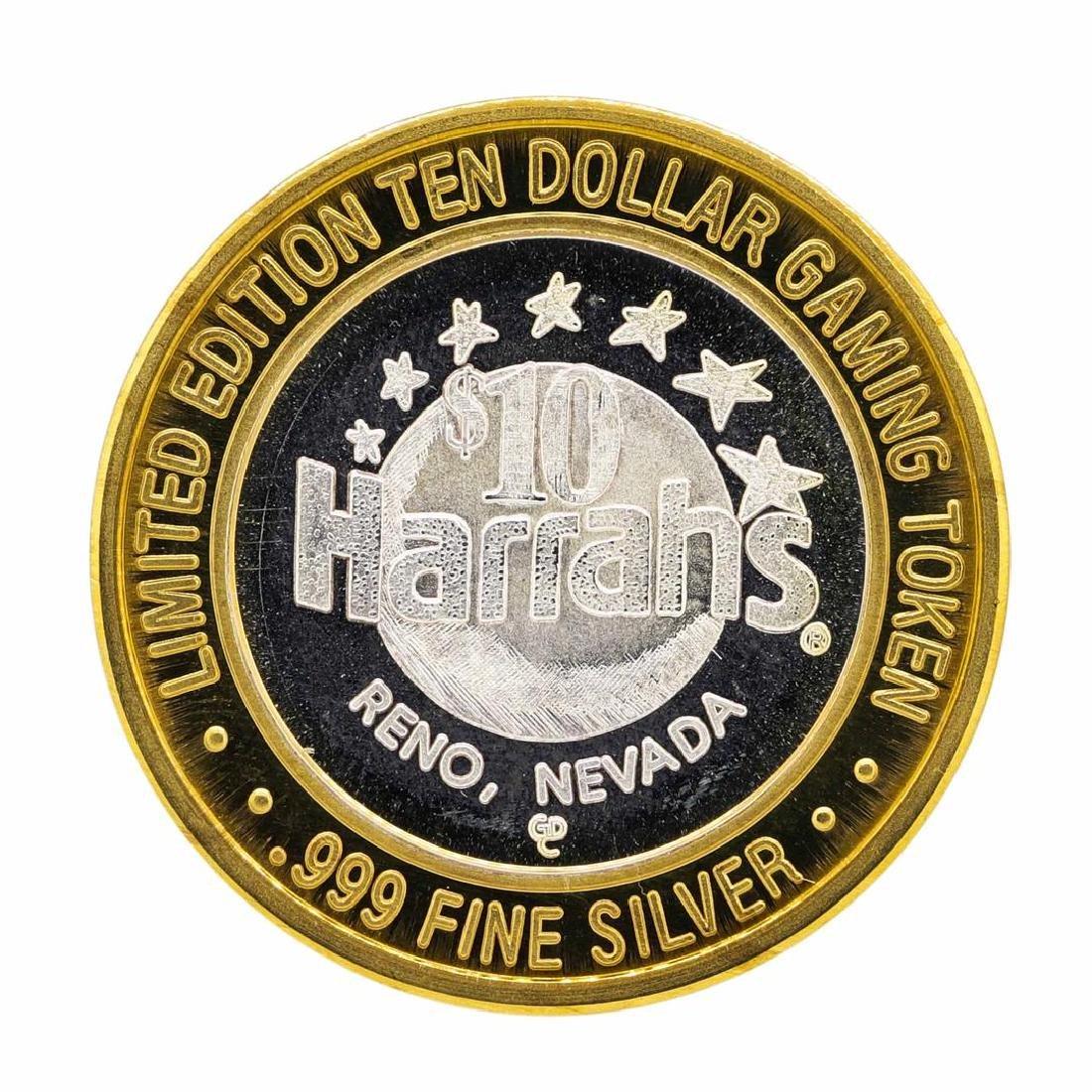 .999 Silver Reno, Nevada $10 Casino Limited Edition - 2
