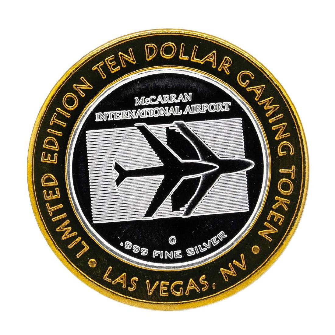.999 Silver McCarran International Airport $10 Casino - 2