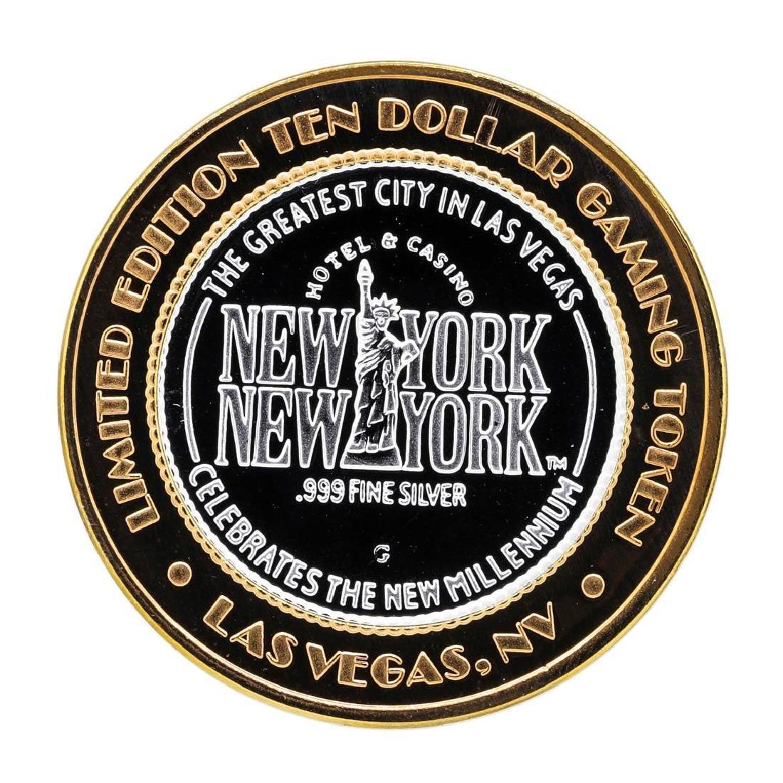 .999 Silver New York New York Hotel & Casino $10 Casino
