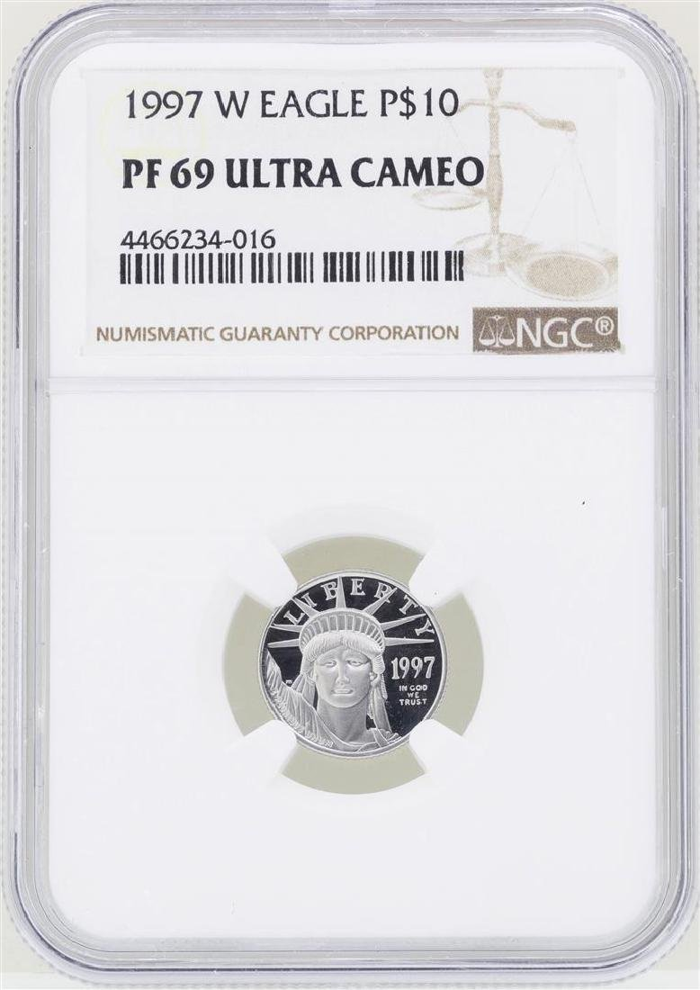 1997-W $10 American Platinum Eagle Coin NGC PF69 Ultra