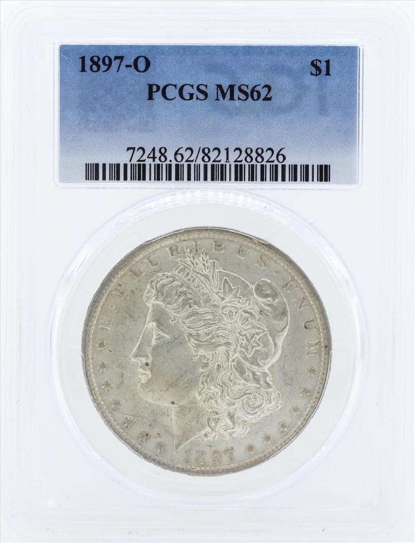 1897-O $1 Morgan Silver Dollar Coin PCGS MS62