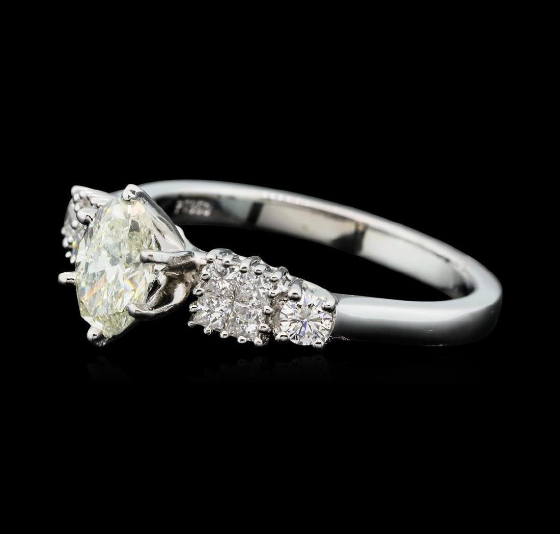 Platinum 1.11 ctw Diamond Ring - 2