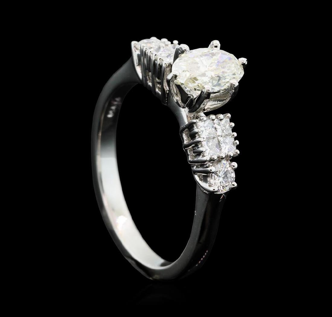 Platinum 1.11 ctw Diamond Ring - 4