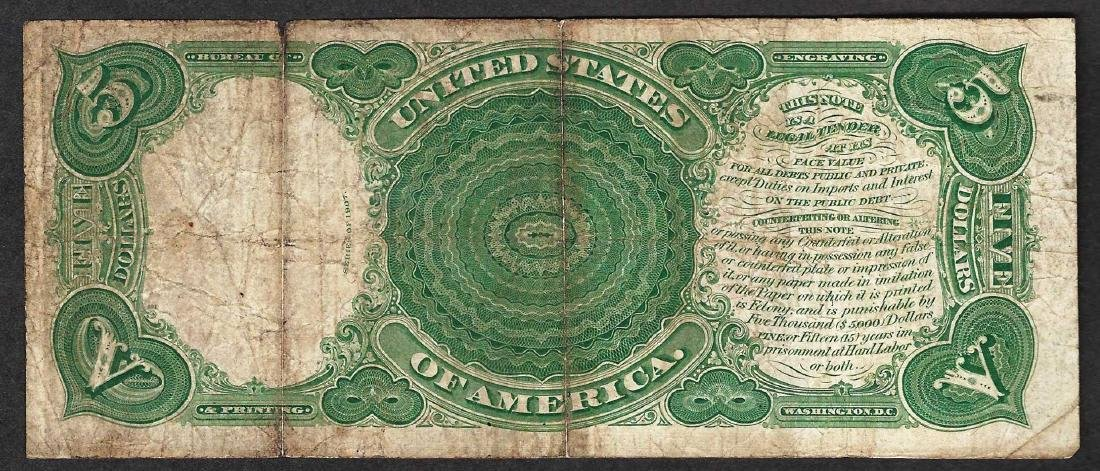 1907 $5 Woodchopper Legal Tender Note - 2