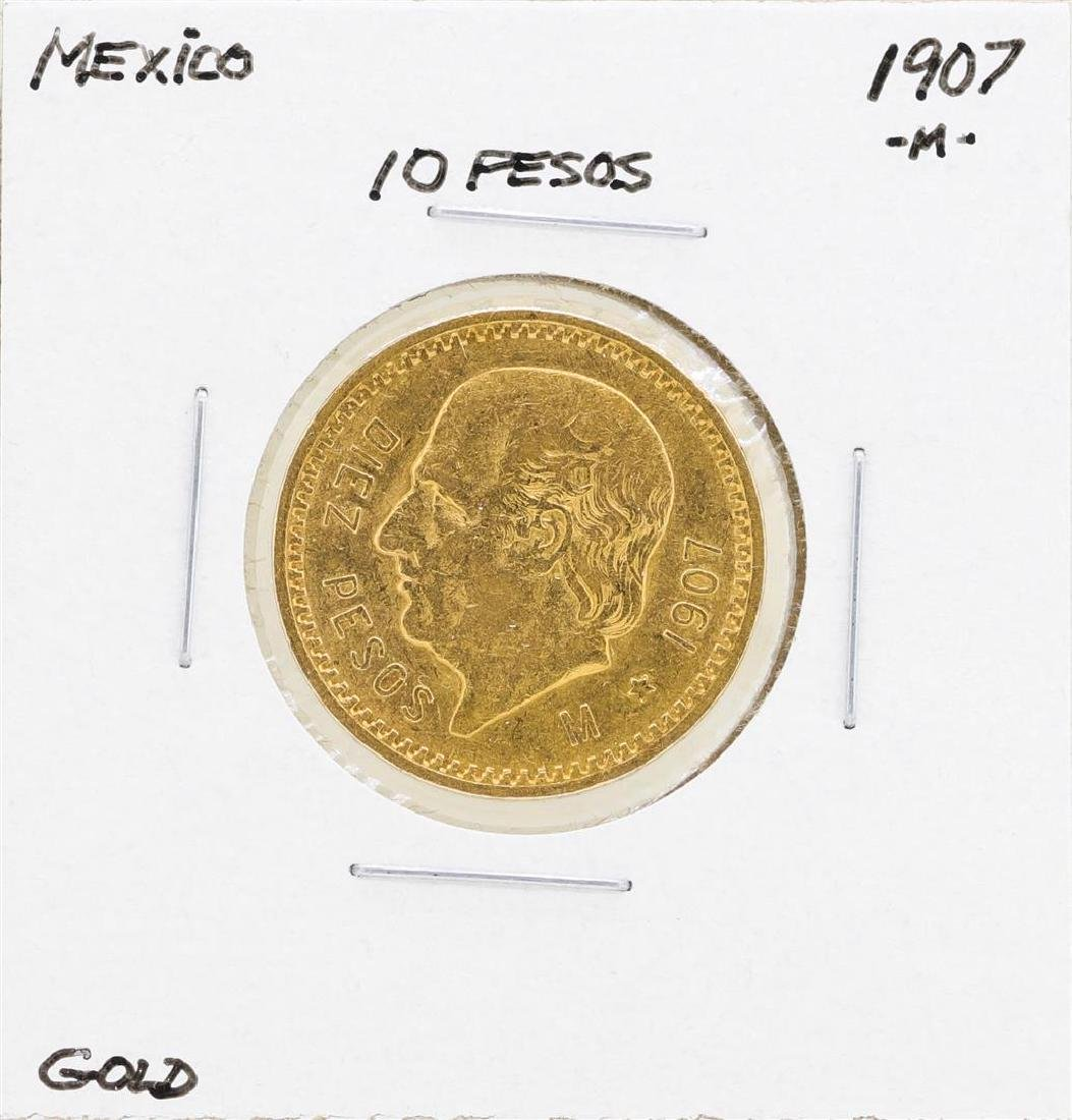 1907-M Mexico 10 Pesos Gold Coin